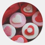Valentine Cupcakes Round Sticker