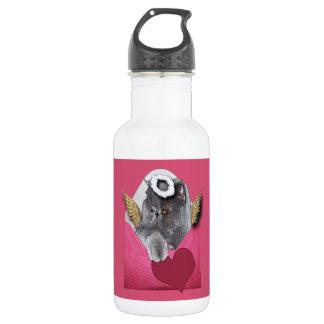 Valentine Cupid Persian Cat w/Heart Water Bottle