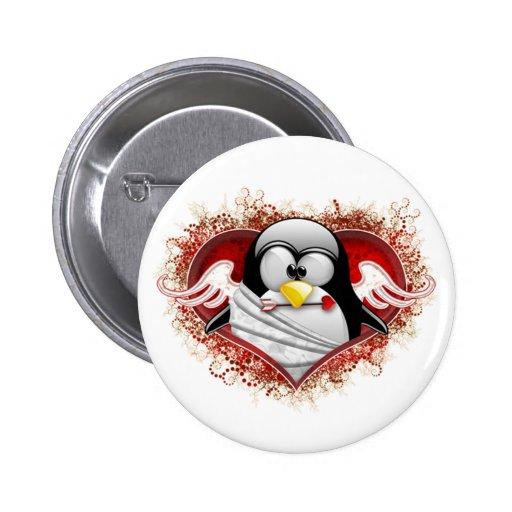 Valentine Cupid Tux Button