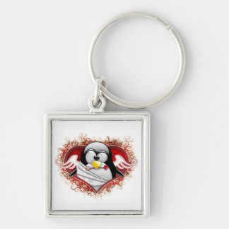 Valentine Cupid Tux Keychain
