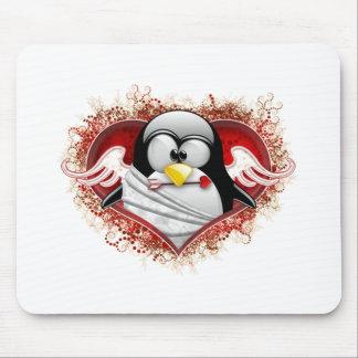 Valentine Cupid Tux Mouse Pad