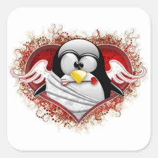 Valentine Cupid Tux Stickers