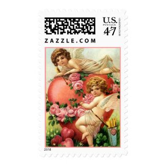 VALENTINE CUPIDS ANGELS VICTORIAN STYLE STAMPS! STAMP