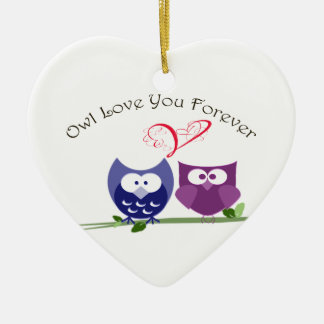 Valentine Cute Owl Love You Forever Ornament