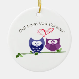 Valentine Cute Owl, Love You Forever Ornament