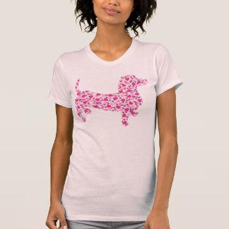 Valentine Dachshund Hearts T-shirt