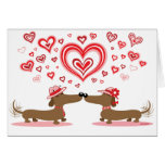 Valentine Dachshunds - Customized Greeting Card