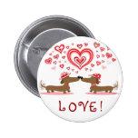 Valentine Dachshunds Pinback Button
