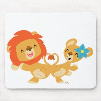 Valentine dancing lion couple mousepad