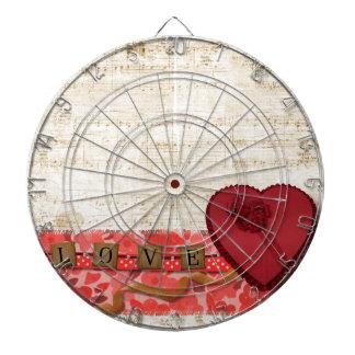 Valentine Dartboard With Darts