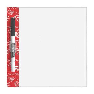 Valentine Day Background Dry Erase Boards