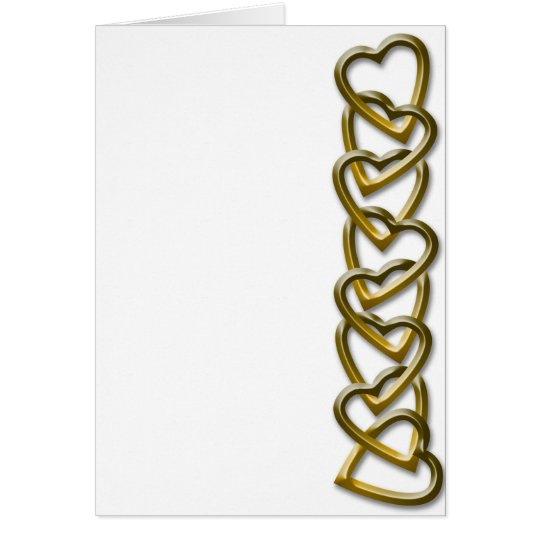 Valentine Day Hearts Chain Card