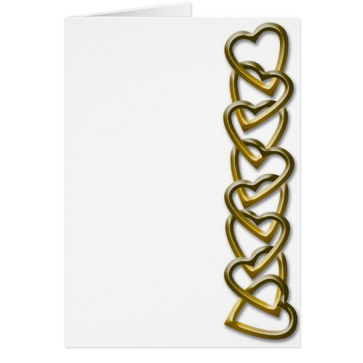 Valentine Day Hearts Chain Cards