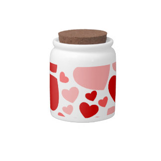 Valentine Day Hearts in Heart Candy Dish