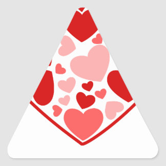 Valentine Day Hearts in Heart Triangle Sticker