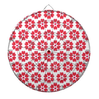 Valentine Day Pink Red Beautiful Lovers Love Heart Dart Board