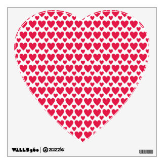 Valentine Day Pink Red Beautiful Lovers Love Heart Wall Sticker