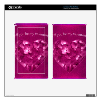 Valentine Day Print Design Decal For Kindle Fire
