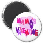 Valentine de los colores del corazón de mamá calie imán para frigorifico