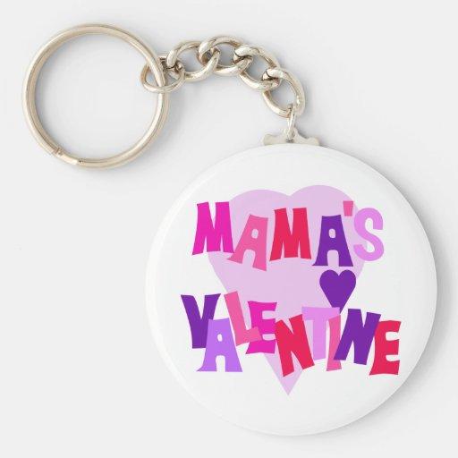 Valentine de los colores del corazón de mamá calie llavero personalizado
