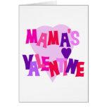 Valentine de los colores del corazón de mamá calie tarjeton