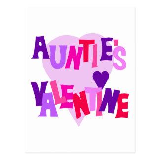 Valentine de los colores del corazón de tía calien tarjeta postal