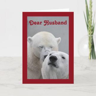 Valentine Dear Husband Holiday Card