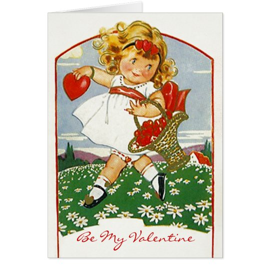 Valentine Delivery girl Valentine's Day Card Cards
