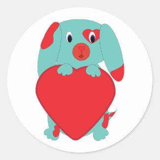 Valentine Dog Sticker