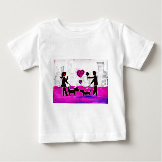 valentine dogs baby T-Shirt
