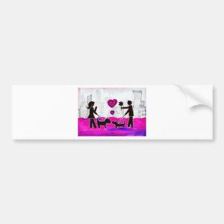 valentine dogs car bumper sticker