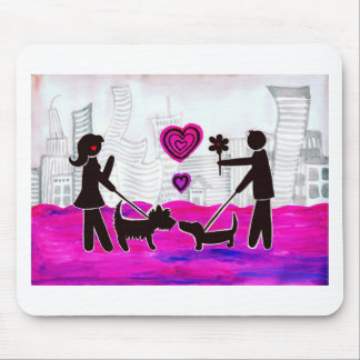 valentine dogs mouse pad