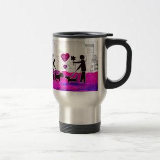 valentine dogs 15 oz stainless steel travel mug