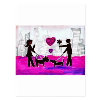 valentine dogs postcard