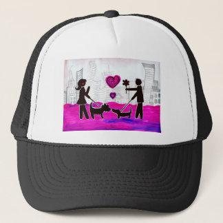 valentine dogs trucker hat