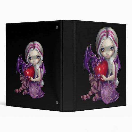 Valentine Dragon BINDER fairy fantasy art