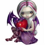 Valentine Dragon fairy PhotoSculpture Photo Statuette