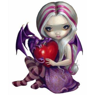 Valentine Dragon gothic fairy Shirt shirt