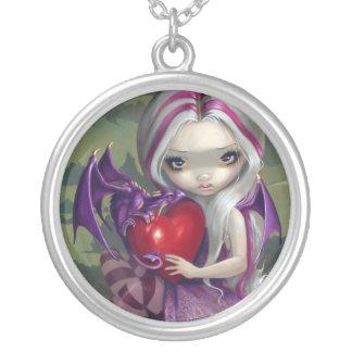 Valentine Dragon NECKLACE fantasy fairy