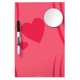 Valentine Dry Erase Board with Mirror - Pink Gifts