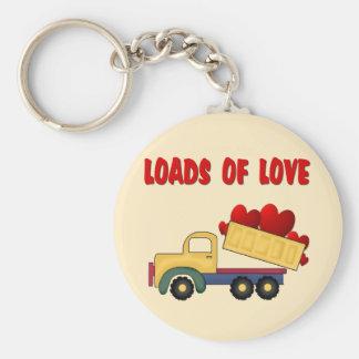 Valentine Dump truck with Loads of Love Keychain