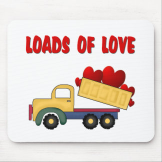 Valentine Dump truck with Loads of Love Mouse Pad