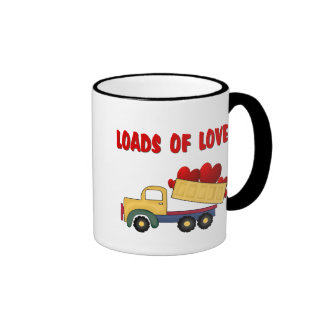 Valentine Dump truck with Loads of Love Ringer Coffee Mug