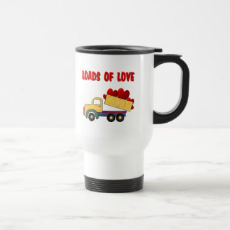 Valentine Dump truck with Loads of Love 15 Oz Stainless Steel Travel Mug