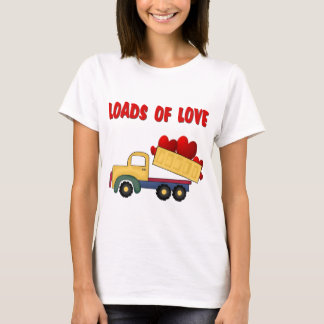 Valentine Dump truck with Loads of Love T-Shirt
