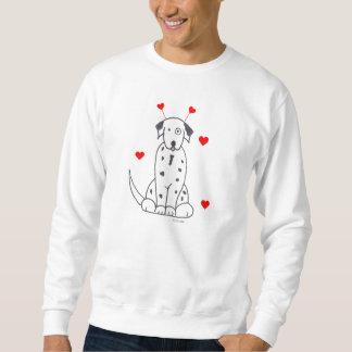 Valentine Ears Dalmatian Sweat Shirt