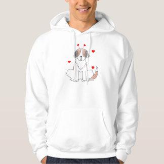 Valentine Ears St Bernard Hooded Sweat Shirt