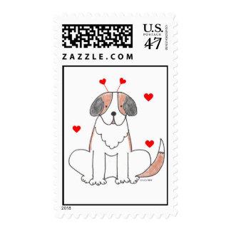 Valentine Ears St Bernard Postage