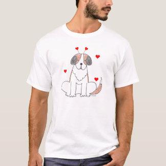 Valentine Ears St Bernard T-Shirt