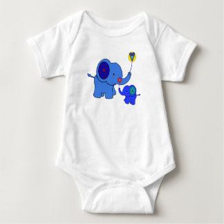 valentine elephant balloon hearts baby bodysuit